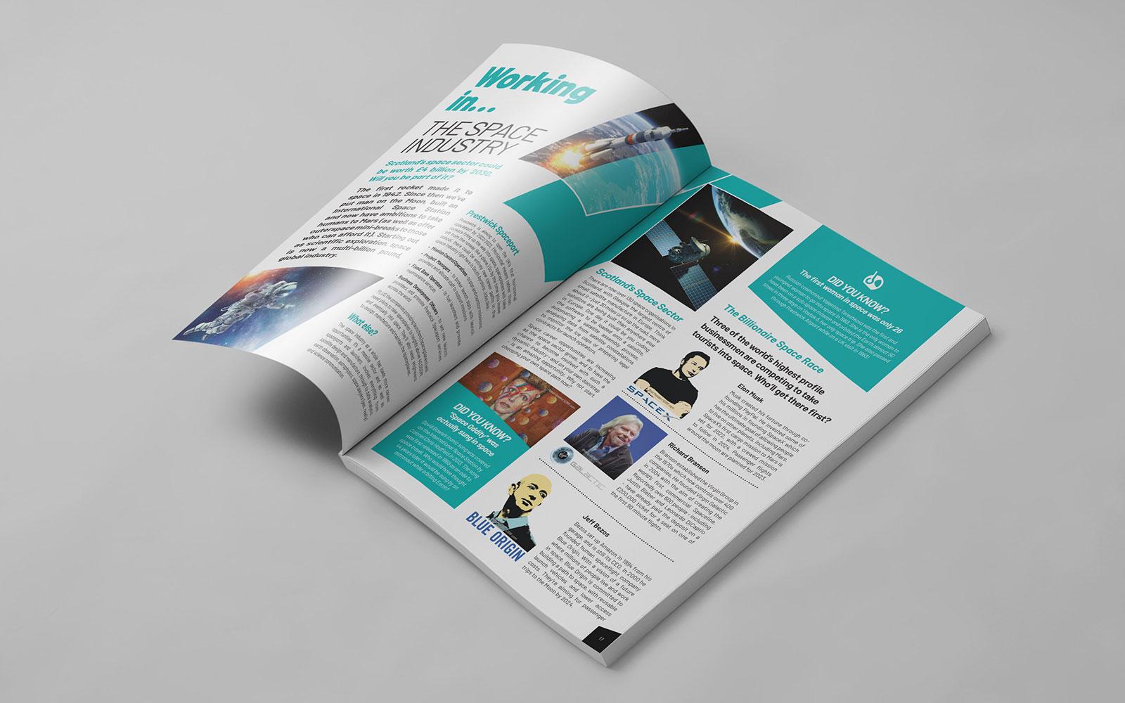 Skypath magazine design