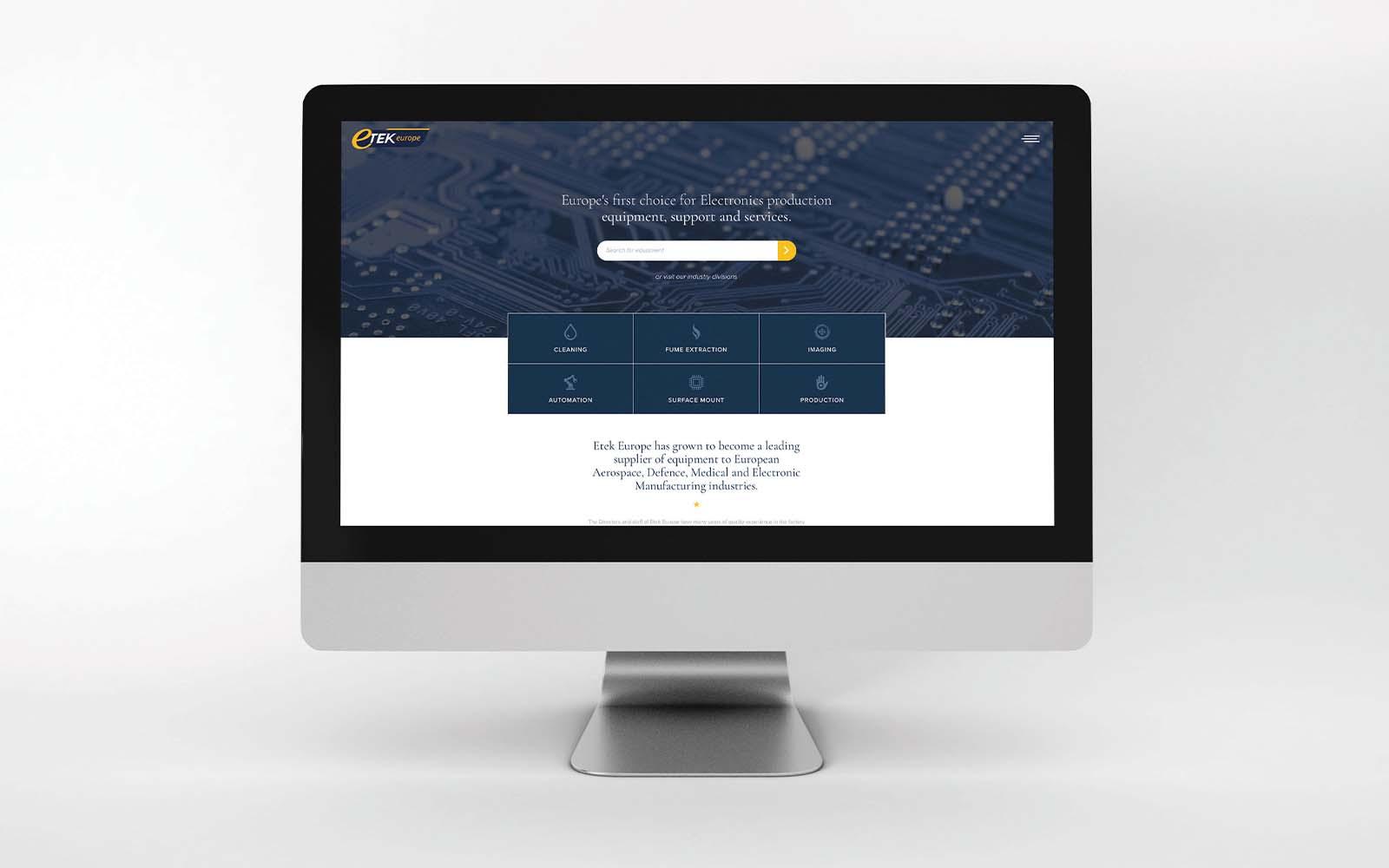 Etek Europe website design